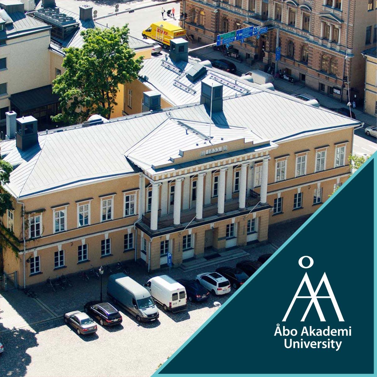 Åbo Akademi campus + Åbo Akademi logo